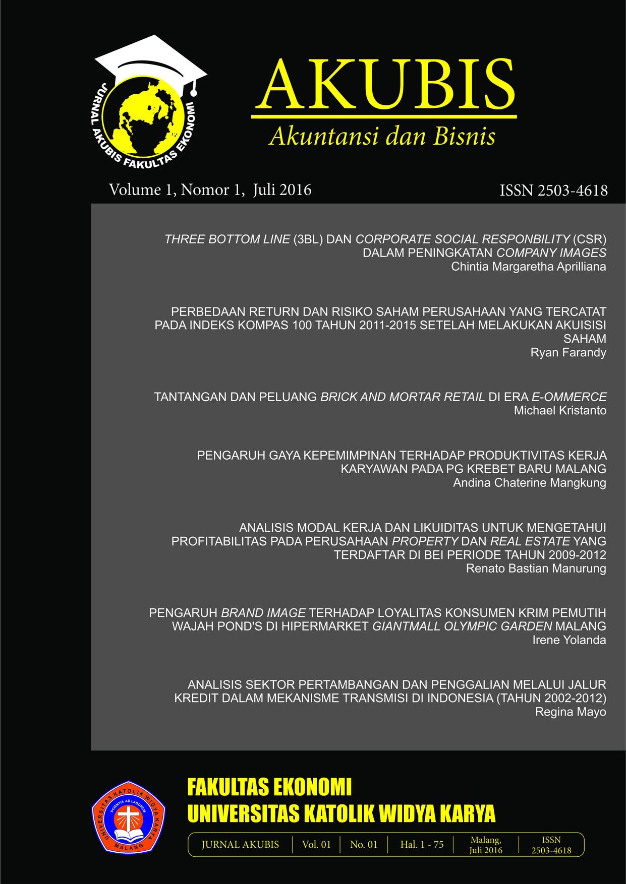 Lihat Vol 1 No 1 (2016): vol 1 no 1 Juli 2016